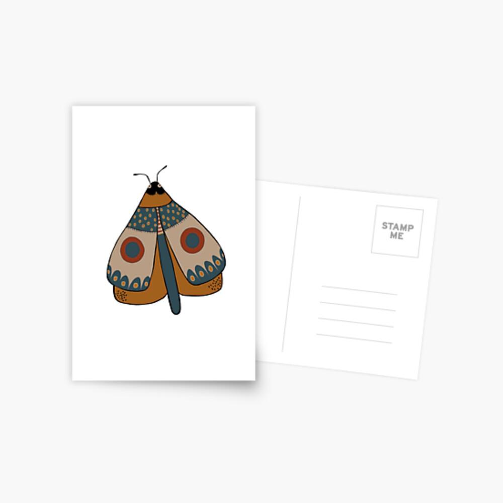 colorful moth digital drawing Postcard