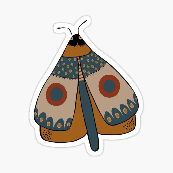 colorful moth digital drawing Sticker