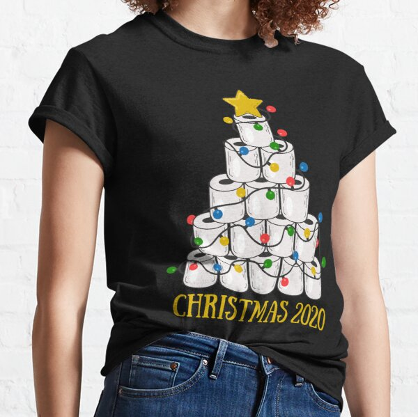 White Toilet Paper Christmas Tree Classic T-Shirt