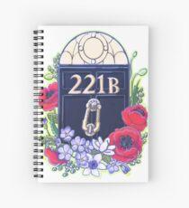 221B Baker Street Spiral Notebook