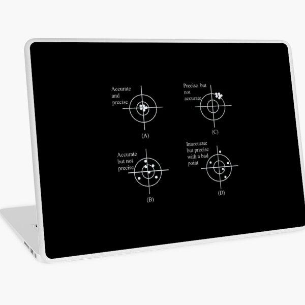 Accurate - Precise - Inaccurate - not Precise Laptop Skin