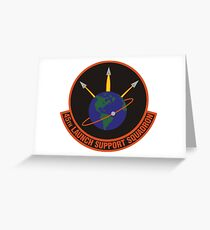 45th Launch Support Squadron Logo Greeting Card