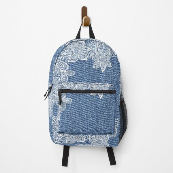 Denim and Lace Background  Backpack
