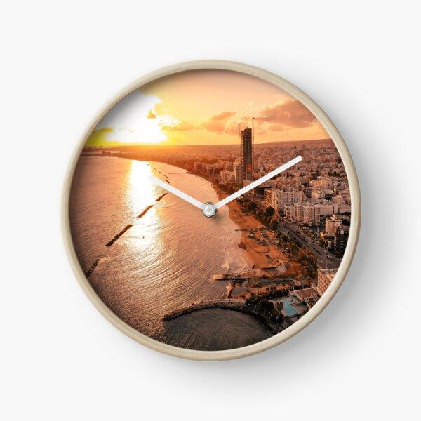 Dreamy Sunset - Limassol Cyprus Clock