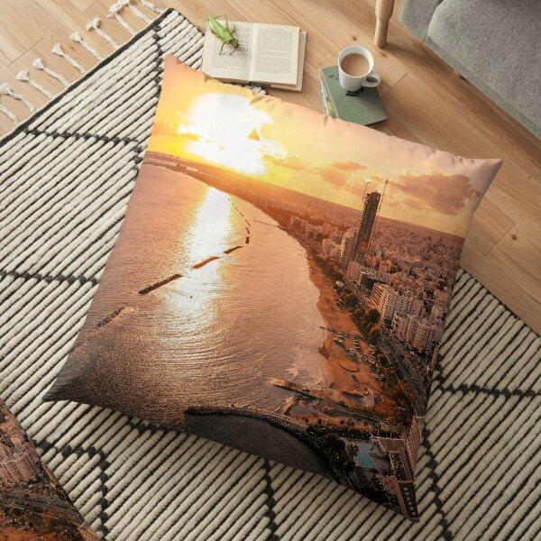 Dreamy Sunset - Limassol Cyprus Floor Pillow