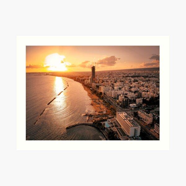 Dreamy Sunset - Limassol Cyprus Art Print