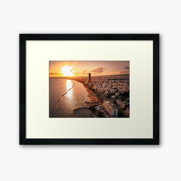 Dreamy Sunset - Limassol Cyprus Framed Art Print