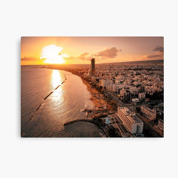 Dreamy Sunset - Limassol Cyprus Canvas Print