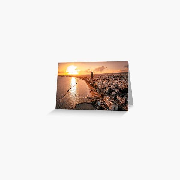 Dreamy Sunset - Limassol Cyprus Greeting Card