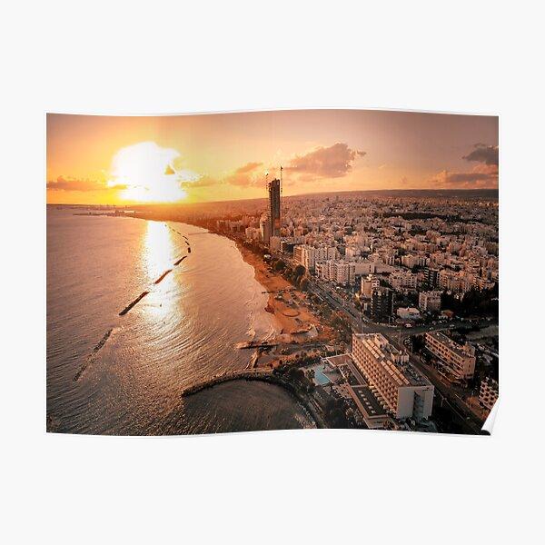 Dreamy Sunset - Limassol Cyprus Poster