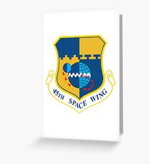 45th Space Wing Logo Greeting Card