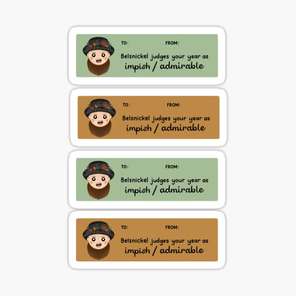The Office Belsnickel Gift Tags Sticker