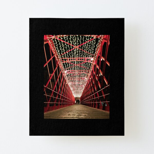Girona Eiffel Bridge at Christmas Canvas Mounted Print