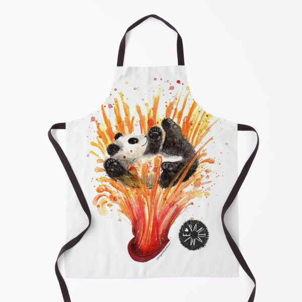 Pandaemic of love and joy. Giant Panda flowing in Joy Apron