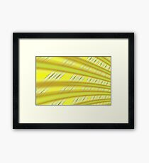 Fractal Play in Citruslicious Framed Print