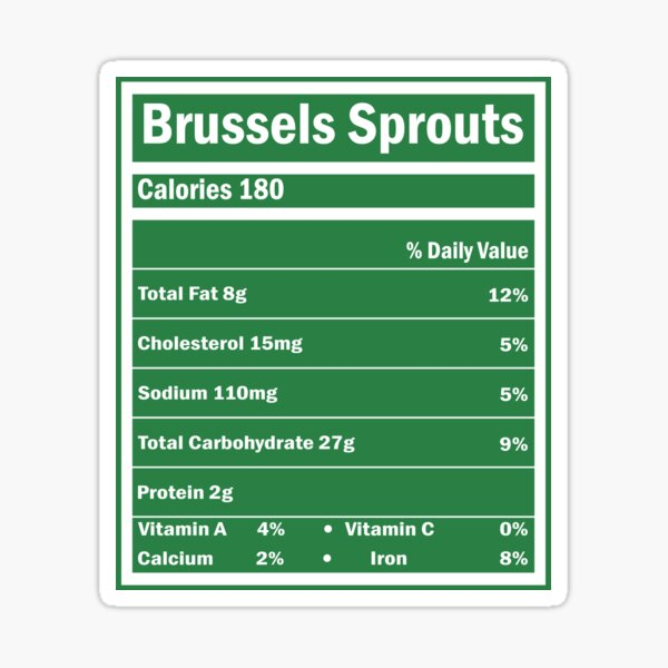 BRUSSELS SPROUTS Sticker