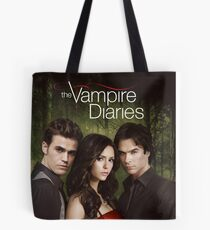 Triangle Love The Vampire Diaries Tote Bag