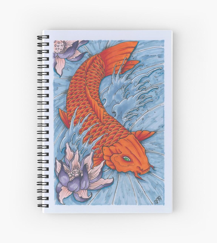 Traditional japanese irezumi koi fish with lotus flower spiral traditional japanese irezumi koi fish with lotus flower by gktspectralart izmirmasajfo