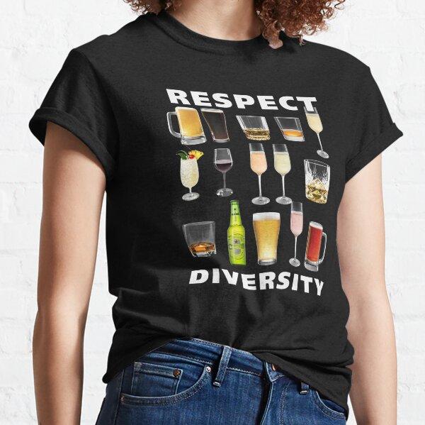 Respect Diversity Drinking Buddy T-Shirt Classic T-Shirt