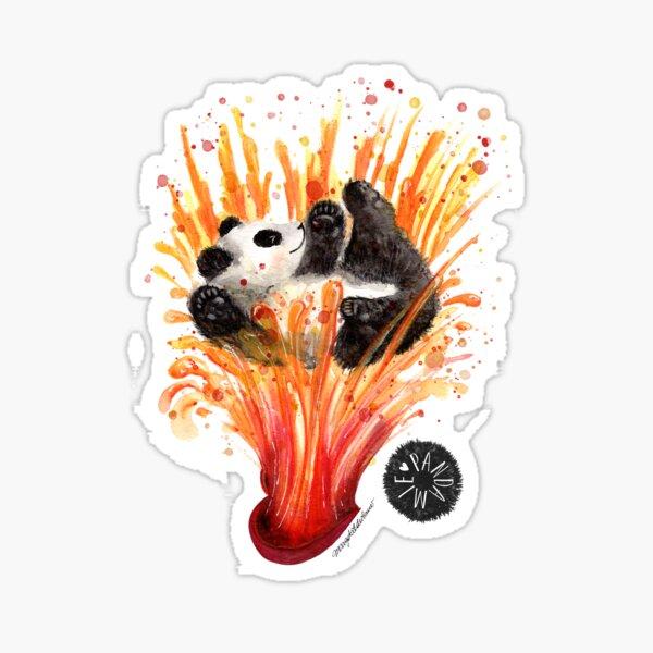 Pandaemic of love and joy. Giant Panda flowing in Joy Sticker