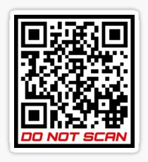 """Rick Roll Your Friends!   QR code that links to Rick Astley's """"Never Gonna Give You Up"""" YouTube music video Sticker"""