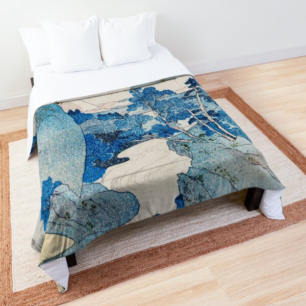 Japanese Mountain Landscape  Comforter