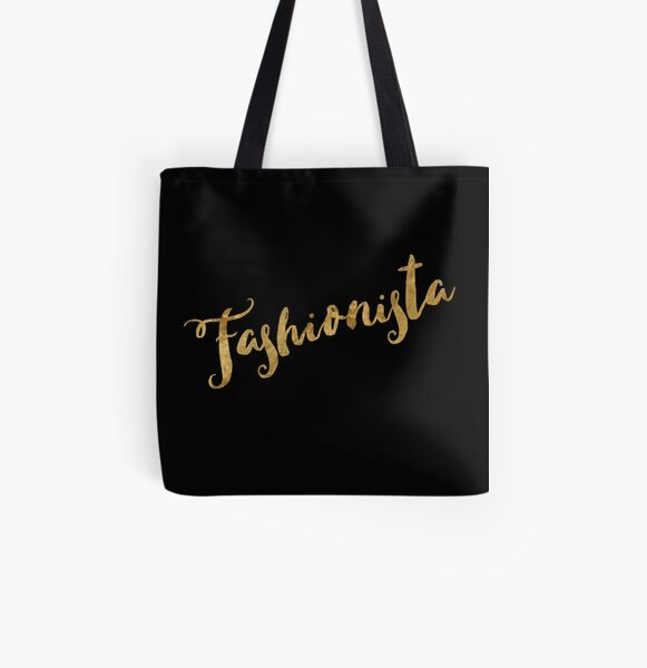 Golden Look Fashionista All Over Print Tote Bag