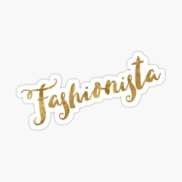 Golden Look Fashionista Sticker