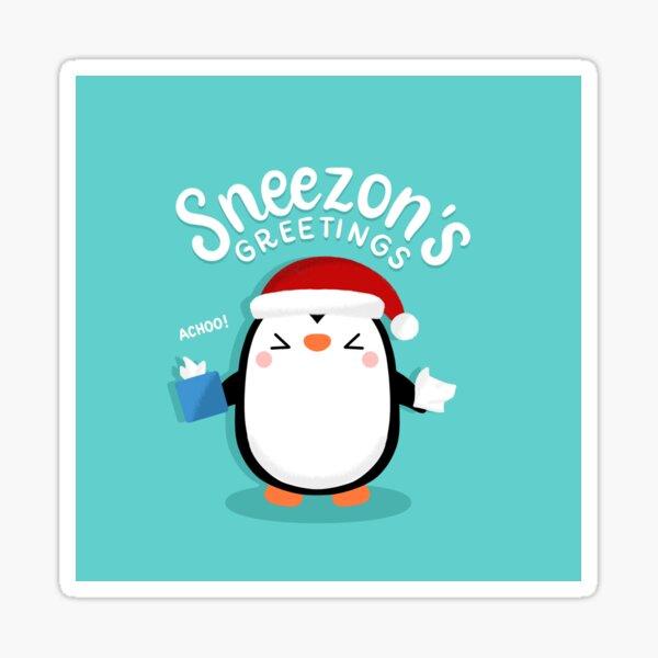 Penguin Sneezon's Greetings Sticker
