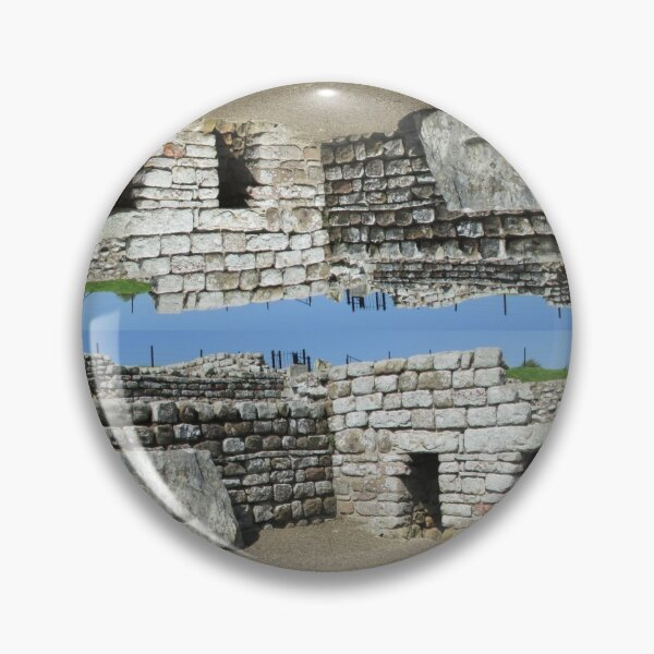 Merch #108 -- Rocks And Bricks - Shot 11 (Hadrian's Wall) Pin