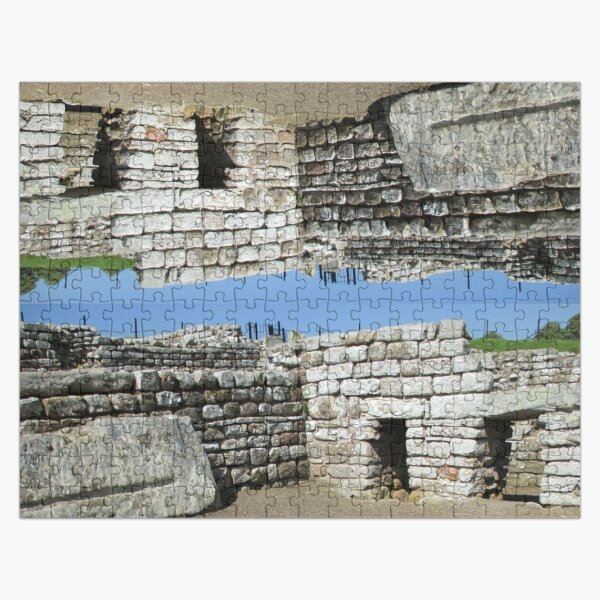 Merch #108 -- Rocks And Bricks - Shot 11 (Hadrian's Wall) Jigsaw Puzzle