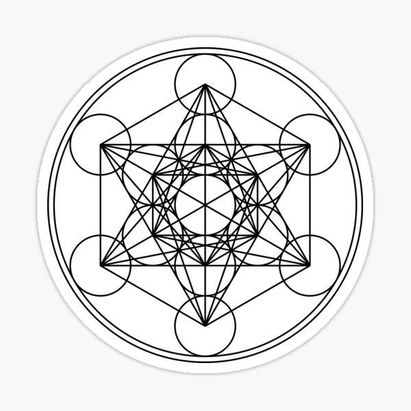 Metatrons Cube, Flower of life, Sacred Geometry Sticker