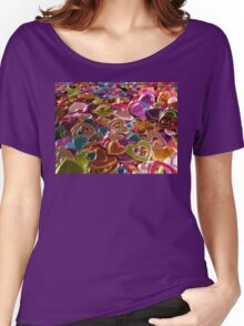 Shiny Hearts Valentine Card  Women's Relaxed Fit T-Shirt