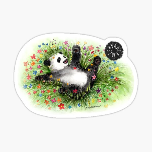 Pandamie - Panda Flowerpower Sticker