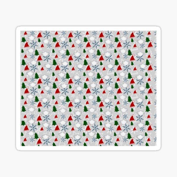 Merry ChristMask happy holidays Pattern 2020 Sticker