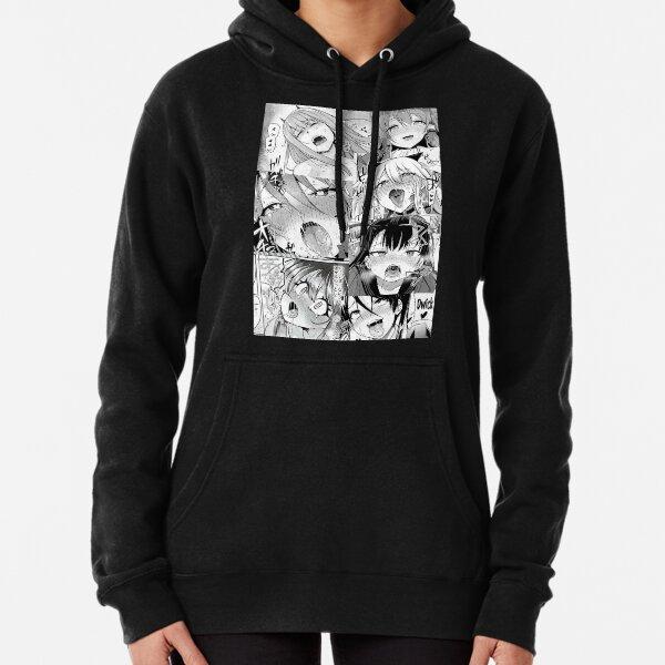 Ahegao Pattern Pullover Hoodie