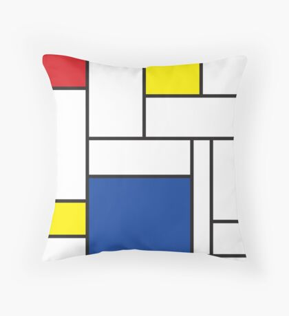 Mondrian Minimalist De Stijl Art Throw Pillow