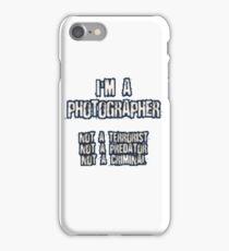 Funny Photographer Shirt iPhone Case/Skin