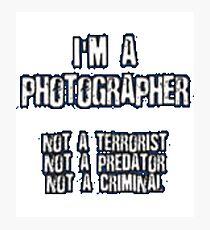 Funny Photographer Shirt Photographic Print