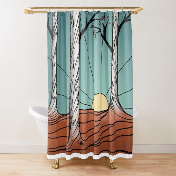 Birch Tree Forest Shower Curtain