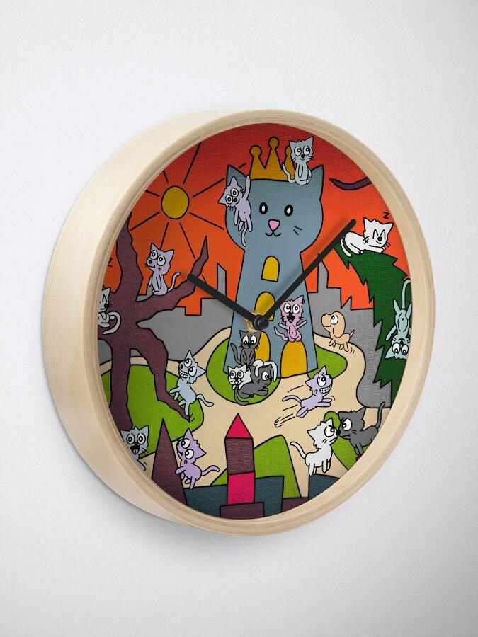 Alternative Ansicht von Katzenstadt Uhr