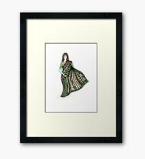 Indian woman with sari Framed Print