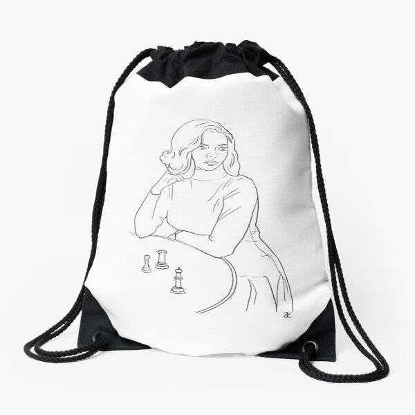 The Queens Gambit Drawstring Bag
