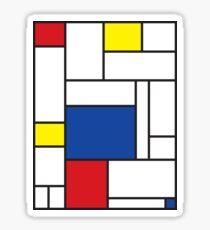 Mondrian Minimalist De Stijl Modern Art II Sticker