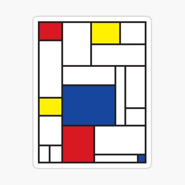 Mondrian Minimalist De Stijl Modern Art II © fatfatin Sticker