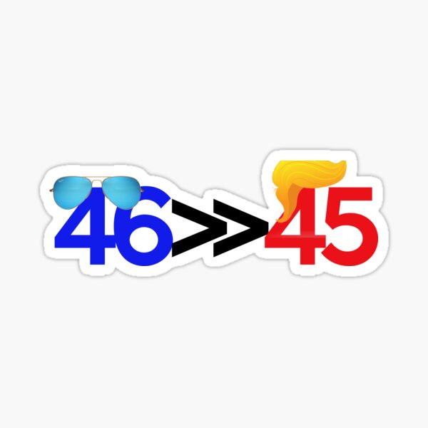 46 is much greater than 45 Sticker