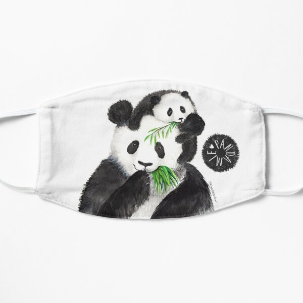 Pandamie_Pandas with bamboo snack Mask
