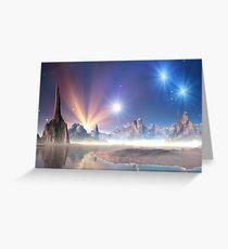 Alien Planet - Fantasy Landscape Greeting Card