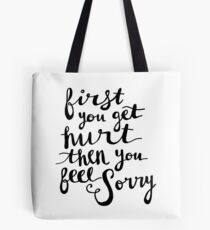 First - Lyric Hand Lettering Tote Bag