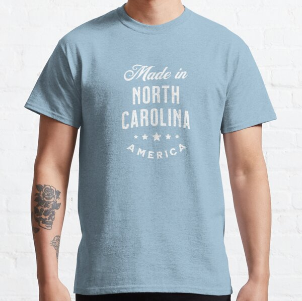 Made In North Carolina, USA - Vintage Logo Blue Classic T-Shirt